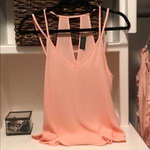 ASTR blush pink blouse